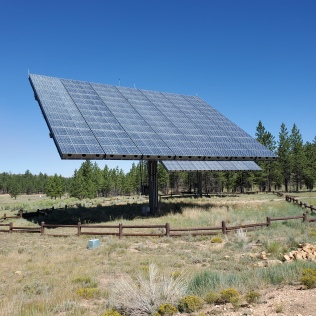 WOW at the Visitor Center, HUGE solar panels