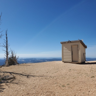 I thought this was another award winning picture for the NP outhouse calendar, but turned out to be a weather station